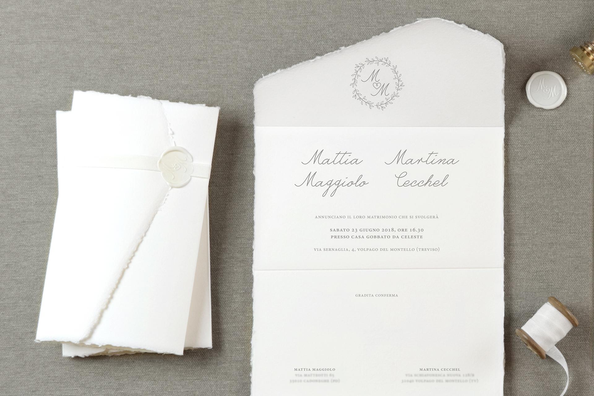 Partecipazioni Matrimonio Unico Foglio.Matrimonio Classico E Ricercato Grafica Matrimoni